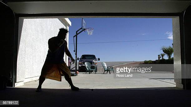 David Tua shadow boxing in the Gym before at his training camp at Prince Ranch Resort Mt Charleston north of Las Vegas Tua is sceduled to fight...