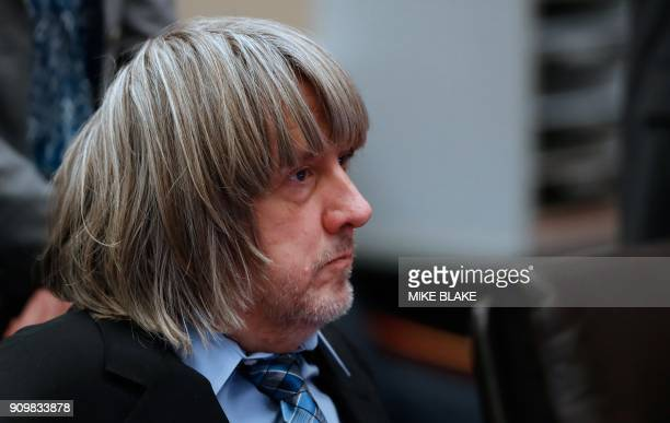 David Turpin appears in court on January 24 2018 in Riverside California David Allen Turpin and his wife Louise Anna Turpin 49 who had registered...