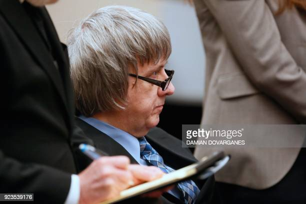 David Turpin appears on court with his wife Louise the parents who allegedly held their 13 children captive appear in court on February 23 2018 in...