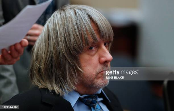 David Turpin looks on in court where he appeared with his wife Louise and their lawyers on January 24 2018 in Riverside California David Allen Turpin...