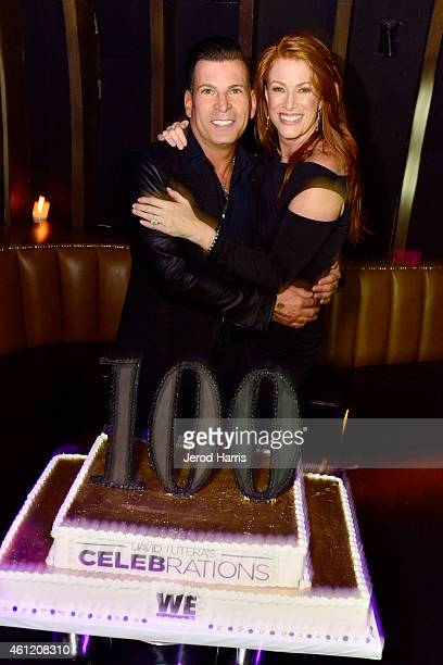 David Tutera and Angie Everhart attend WE tv's joint premiere party for 'Marriage Boot Camp Reality Stars' and 'David Tutera's CELEBrations' at 1 OAK...