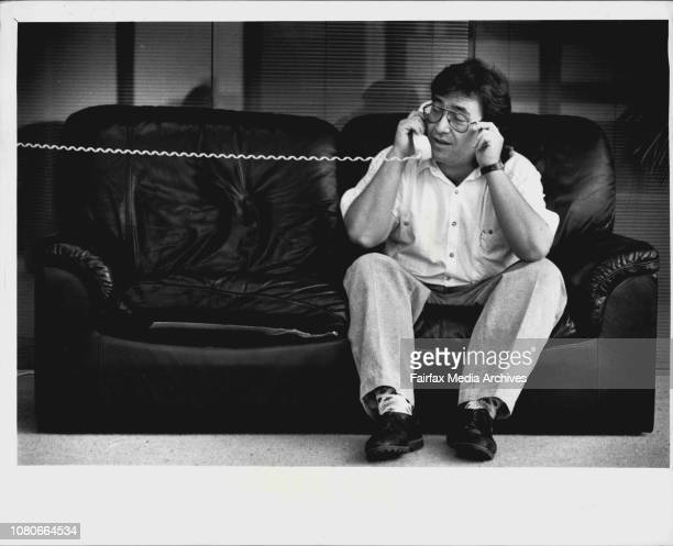 David Tuxford talks to Stella Adams at her home in the Northern Suburbs. December 12, 1989. .