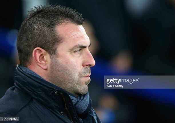 David Unsworth Caretaker Manager of Everton looks on prior to the UEFA Europa League group E match between Everton FC and Atalanta at Goodison Park...