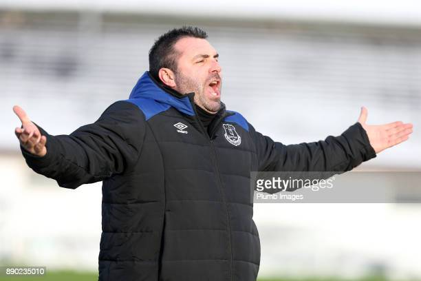 David Unsworth of Everton during the Premier League 2 match between Leicester City and Everton at Belvoir Drive Training Ground on December 11 2017...
