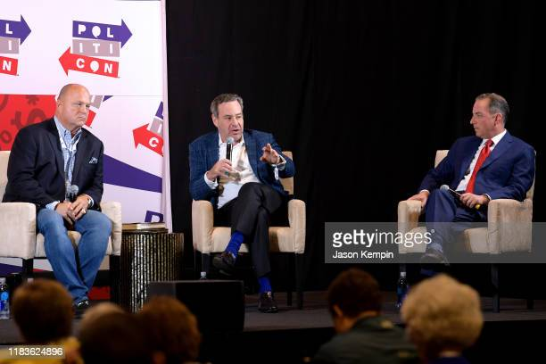 David Urban David Frum and Reince Priebus speak onstage during the 2019 Politicon at Music City Center on October 26 2019 in Nashville Tennessee