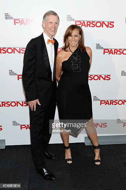 David Van Zandt and Donna Karan attend the 67th Annual Parsons Fashion Benefit at River Pavillion at the Jacob Javitz Center on May 19 2015 in New...