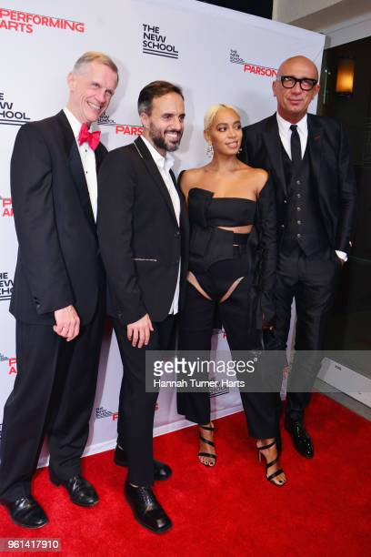 David Van Zandt Jose Neves Solange Knowles and Marco Bizzarri attend the 70th Annual Parsons Benefit at Pier Sixty at Chelsea Piers on May 21 2018 in...