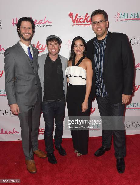 David Vargas Jordan Wall Melissa Carcache and Javier Mayol attends the Hialeah Series Premiere at the Milander Center for Arts and Entertainment on...