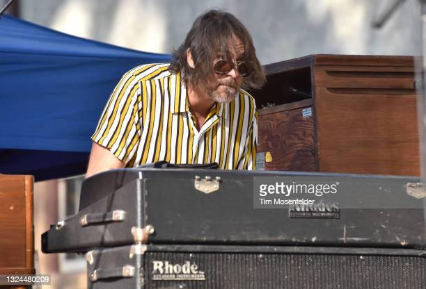 David Veith of Karl Denson's Tiny Universe performs at Charles Krug Winery on June 19, 2021 in St Helena, California.