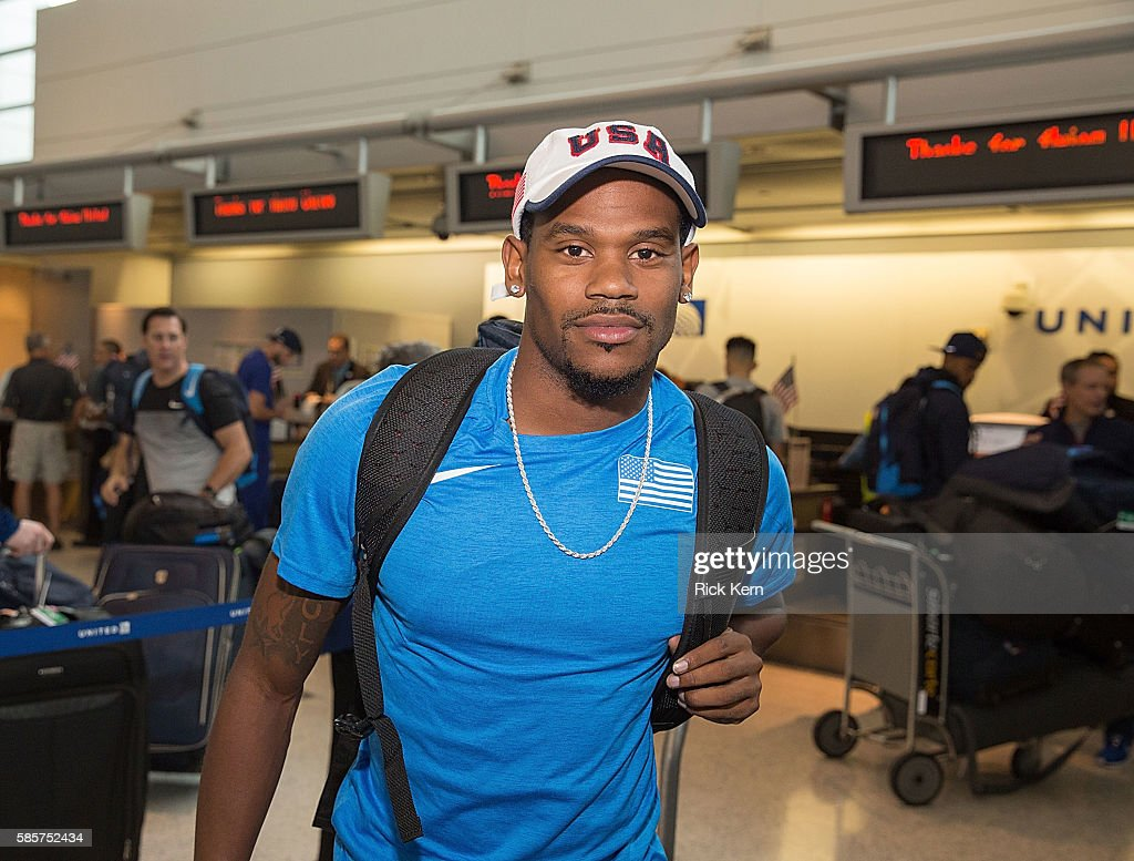 United Airlines Celebrates Team USA As Over 85 U.S. Athletes Get Ready To Board Their Flight At George Bush Intercontinental Airport In Houston on August 3, 2016, En route To Rio To Chase Their Dreams Of Winning Olympic Gold