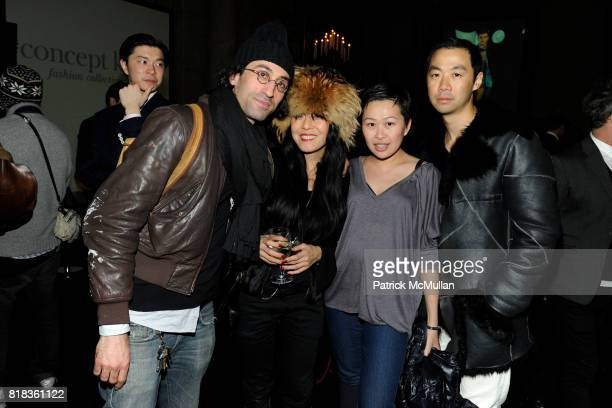 David Victor Rose Gemma Gemma Kahng Niki Cheng and Shaokao Cheng attend The CFDA and SOUTH KOREAN GOVERNMENT Launch CONCEPT KOREA at The New York...
