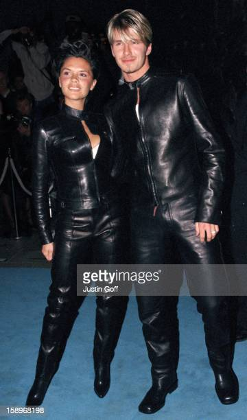 David & Victoria Beckham Attend The 'Versace Club' Gala Party In London.