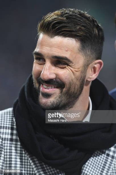David Villa looks on prior to the international friendly match between Japan and Bolivia at Noevir Stadium Kobe on March 26 2019 in Kobe Hyogo Japan