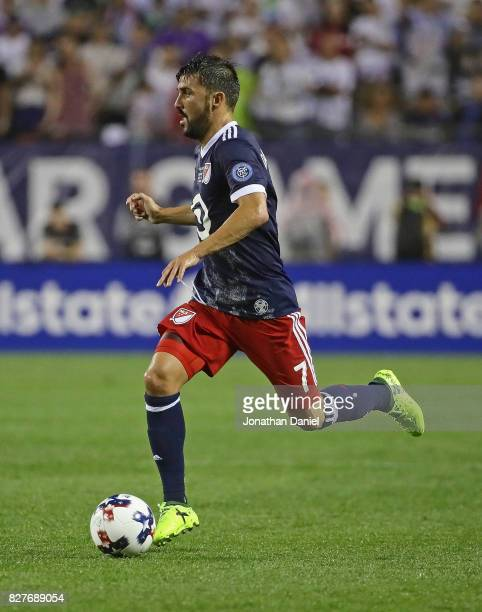 David Villa of the MLS AllStars looks toi pass against Real Madrid during the 2017 MLS All Star Game at Soldier Field on August 2 2017 in Chicago...
