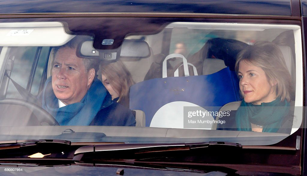 David, Viscount Linley and Serena, Viscountess Linley attend a Christmas lunch for members of the Royal Family hosted by Queen Elizabeth II at Buckingham Palace on December 20, 2016 in London, England.