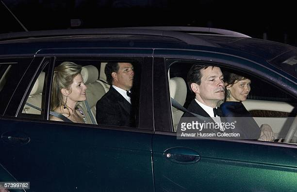 David Viscount Linley Serena Viscountess Linley Lady Sarah Chatto and Daniel Chatto arrive to celebrate Queen Elizabeth II'S 80th birthday at Kew...