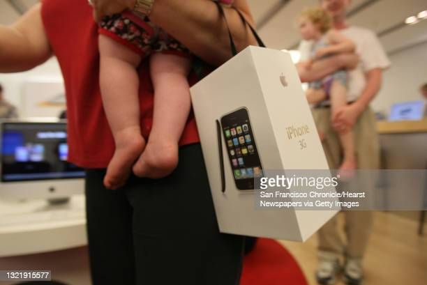 David Vogt waited from 7:30 am this morning in front of the Apple Store in Palo Alto, Calif., on July 11, 2008 to purchase two new Apple iPhones. He...