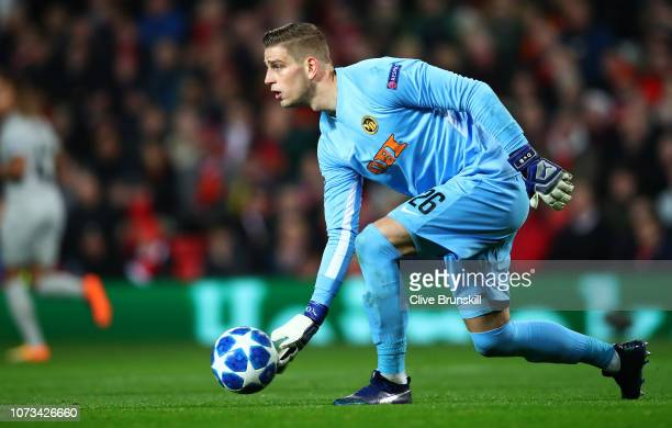 David Von Balimoos of BSC Young Boys in action during the Group H match of the UEFA Champions League between Manchester United and BSC Young Boys at...