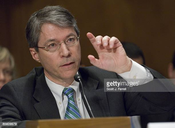 March 25: David W. Ogden, deputy U.S. Attorney general, during the Senate Homeland Security and Governmental Affairs hearing on violence along the...