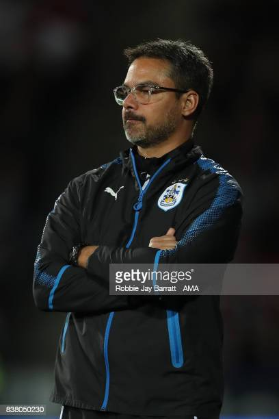 David Wagner head coach / manager of Huddersfield Town during the Carabao Cup Second Round match between Huddersfield Town and Rotherham United at...