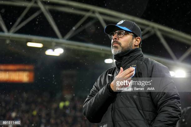 David Wagner head coach / manager of Huddersfield Town during the Premier League match between Huddersfield Town and Chelsea at John Smith's Stadium...