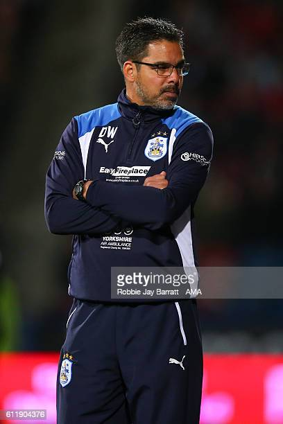 David Wagner head coach / manager of Huddersfield Town during the Sky Bet Championship match between Huddersfield Town and Rotherham United at...