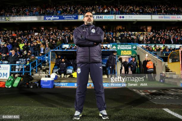 David Wagner head coach / manager of Huddersfield Town during the Sky Bet Championship match between Huddersfield Town and Brighton Hove Albion at...