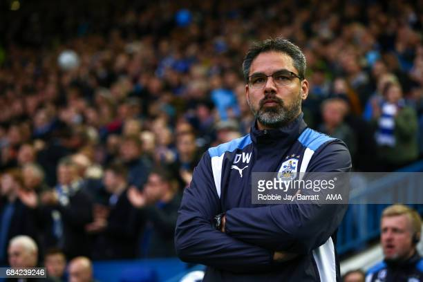 David Wagner head coach / manager of Huddersfield Town during the Sky Bet Championship match between Sheffield Wednesday and Huddersfield Town at...