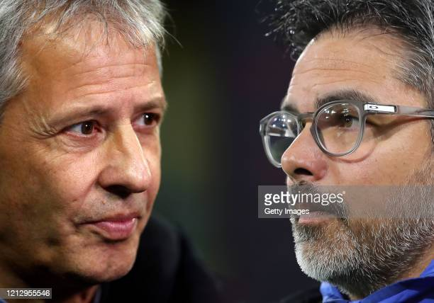 COMPOSITE OF IMAGES Image numbers 1059947130 1202029056 GRADIENT ADDED In this composite image a comparison has been made between Lucien Favre...