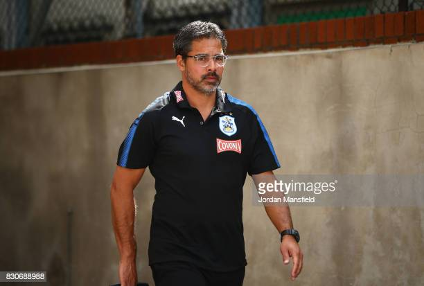 David Wagner Manage of Huddersfield Town arrives at the stadium prior to the Premier League match between Crystal Palace and Huddersfield Town at...