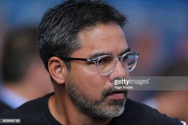 David Wagner manager Huddersfield Town of during the Premier League match between Huddersfield Town and Southampton at Galpharm Stadium on August 26...
