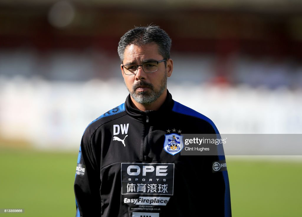 David Wagner manager of Huddersfield Town during the pre season friendly game at Wham Stadium on July 12, 2017 in Accrington, England.
