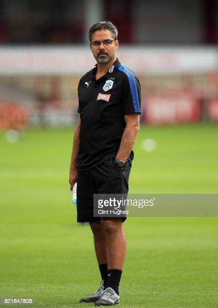 David Wagner manager of Huddersfield Town during the pre season friendly between Barnsley and Huddersfield Town at Oakwell Stadium on July 22 2017 in...