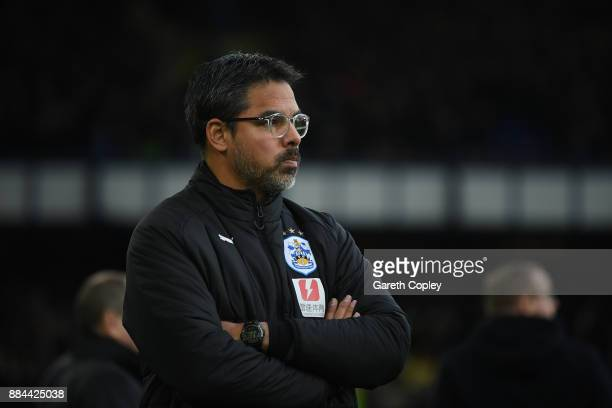 David Wagner Manager of Huddersfield Town during the Premier League match between Everton and Huddersfield Town at Goodison Park on December 2 2017...