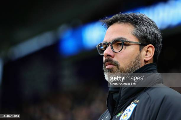 David Wagner Manager of Huddersfield Town during the Premier League match between Huddersfield Town and West Ham United at John Smith's Stadium on...