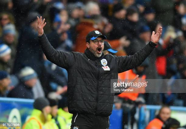 David Wagner Manager of Huddersfield Town during the Premier League match between Huddersfield Town and AFC Bournemouth at John Smith's Stadium on...
