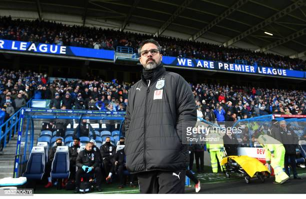 David Wagner Manager of Huddersfield Town during the Premier League match between Huddersfield Town and Crystal Palace at John Smith's Stadium on...