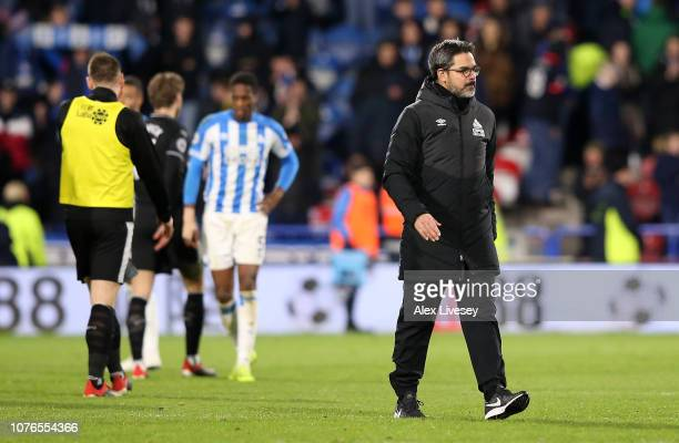 David Wagner Manager of Huddersfield Town leaves the pitch after the match during the Premier League match between Huddersfield Town and Burnley FC...
