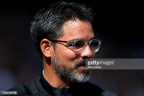 David Wagner manager of Huddersfield Town looks on during the Premier League match between Huddersfield Town and Cardiff City at John Smith's Stadium...