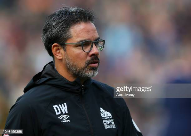 David Wagner manager of Huddersfield Town looks on prior to the Premier League match between Burnley FC and Huddersfield Town at Turf Moor on October...
