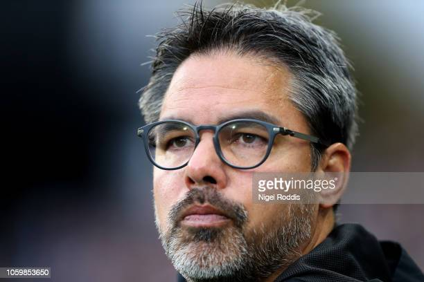 David Wagner Manager of Huddersfield Town looks on prior to the Premier League match between Huddersfield Town and West Ham United at the John...