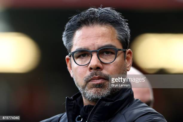 David Wagner Manager of Huddersfield Town looks on prior to the Premier League match between AFC Bournemouth and Huddersfield Town at Vitality...