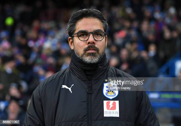 David Wagner Manager of Huddersfield Town looks on prior to the Premier League match between Huddersfield Town and Brighton and Hove Albion at John...