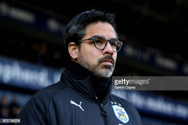 David Wagner Manager of Huddersfield Town looks on prior to the Premier League match between West Bromwich Albion and Huddersfield Town at The...