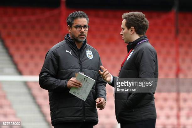 David Wagner manager of Huddersfield Town looks prior to the Premier League match between AFC Bournemouth and Huddersfield Town at Vitality Stadium...