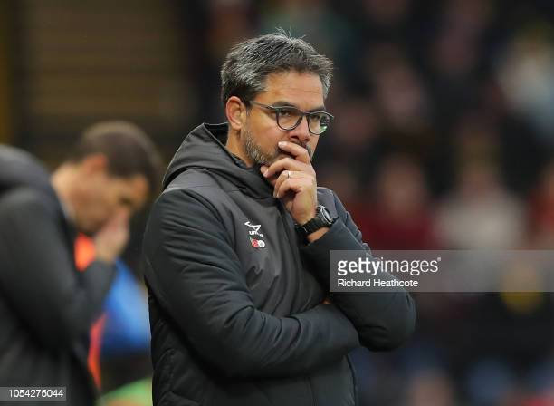 David Wagner manager of Huddersfield Town reacts during the Premier League match between Watford FC and Huddersfield Town at Vicarage Road on October...