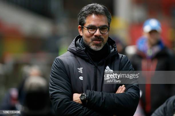 David Wagner of Huddersfield Town during the FA Cup Third Round match between Bristol City and Huddersfield Town at Ashton Gate on January 05, 2019...