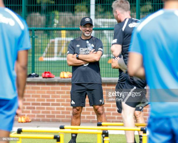 David Wagner the manager of Huddersfield Town during pre season training on July 5 2018 in Huddersfield England