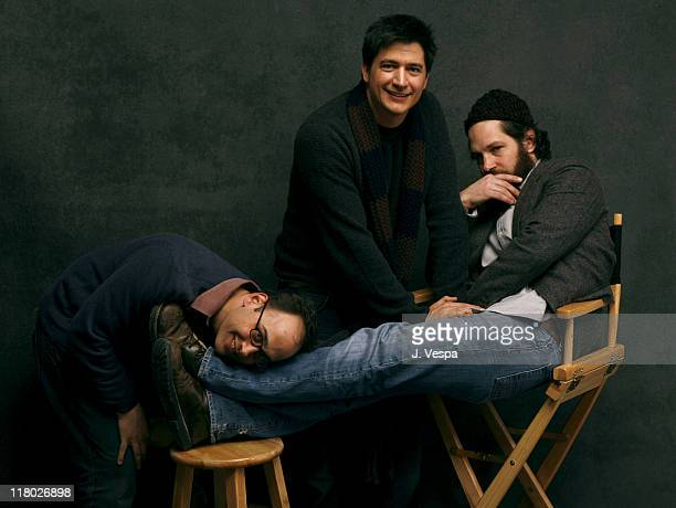 David Wain Director Ken Marino and Paul Rudd during 2007 Sundance Film Festival 'The Ten' Portraits at Delta Sky Lodge in Park City Utah United States