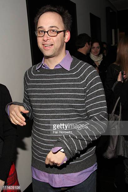 David Wain during The Cinema Society and Frederic Fekkai Host a Screening for Gray Matters After Party at Barolo in New York City New York United...